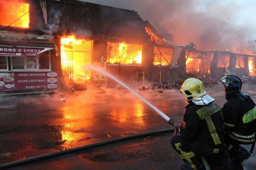 Пожар на строительном рынке «Мельница» на Калужском шоссе ликвидирован (ФОТО,ВИДЕО), фото-3