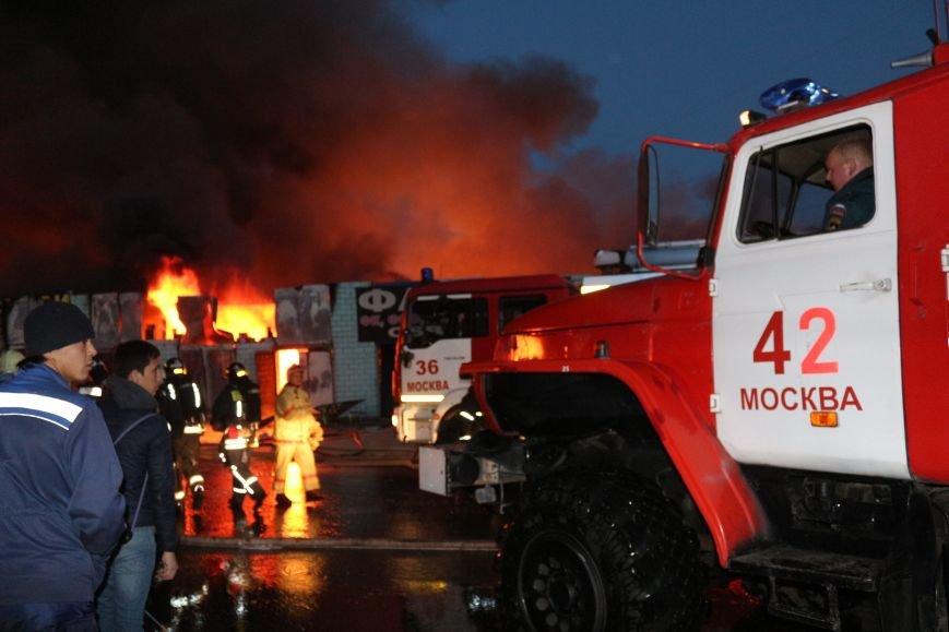 Пожар на строительном рынке «Мельница» на Калужском шоссе ликвидирован (ФОТО,ВИДЕО), фото-1
