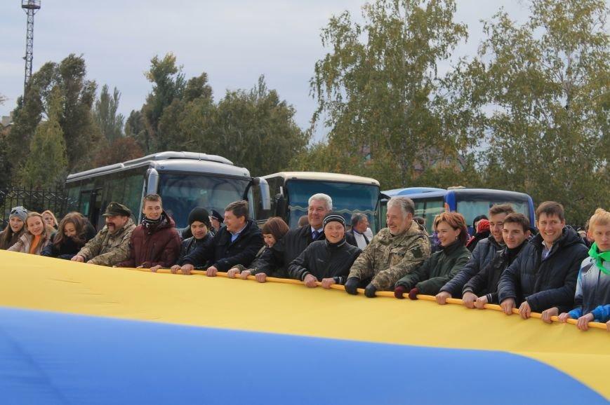 В Артемовске-Бахмуте развернули один из самых больших флагов Украины (ФОТО), фото-5