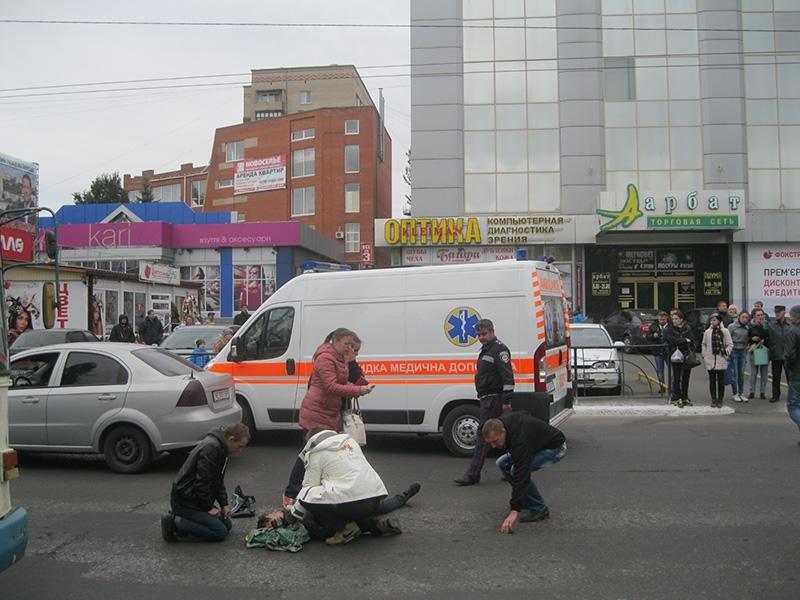 В центре Краматорска сбили женщину (фото) - фото 2