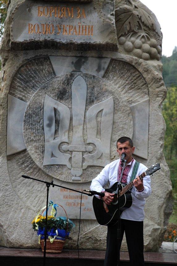 На Прикарпатті відкрили пам'ятник Борцям за волю України, фото-12
