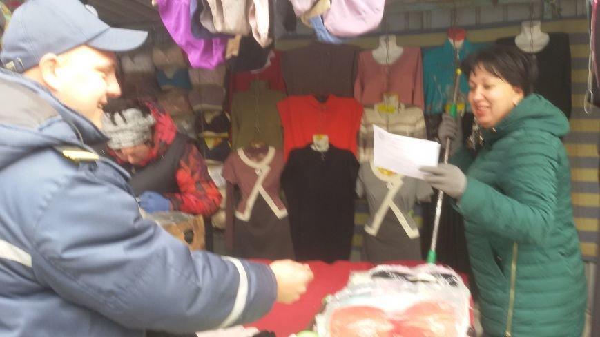 Сотрудники ГСЧС совершили рейд на рынок Доброполья, фото-3