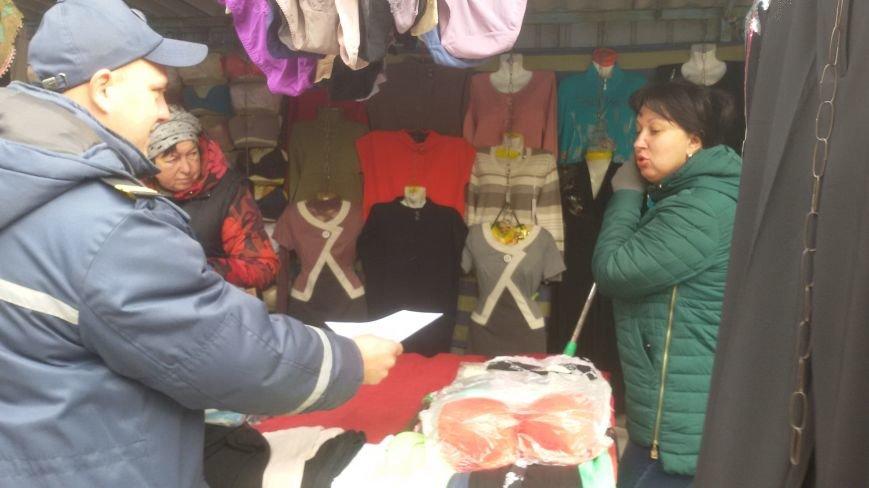Сотрудники ГСЧС совершили рейд на рынок Доброполья, фото-2