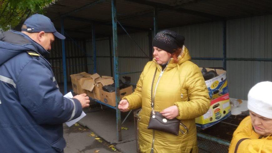Сотрудники ГСЧС совершили рейд на рынок Доброполья, фото-6