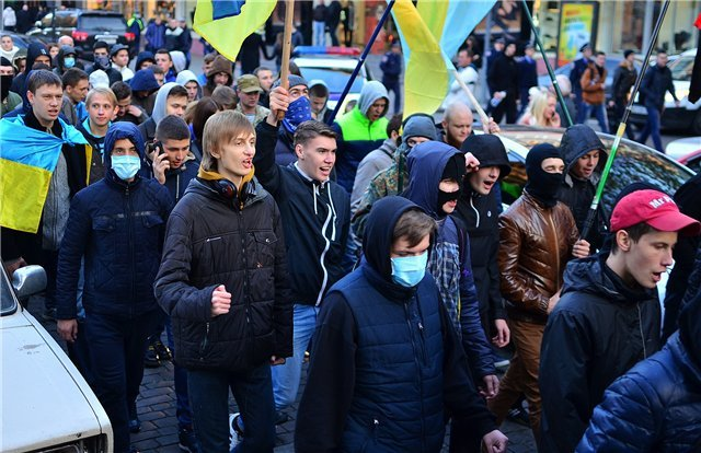 Марш националистов в Одессе. (фото) - фото 3