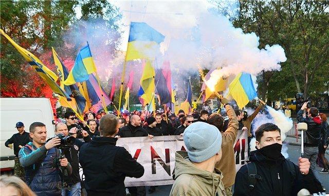 Марш националистов в Одессе. (фото) - фото 5