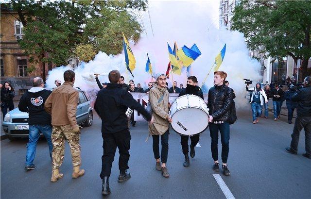 Марш националистов в Одессе. (фото) - фото 2