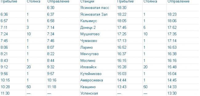 Стал известен график движения поезда Ясиноватая-Успенская, фото-1