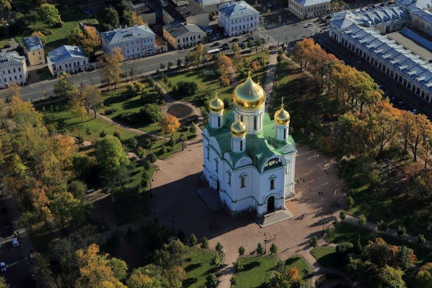 Город Пушкин с высоты птичьего полета на фотографиях Дмитрия Песочинского, фото-2