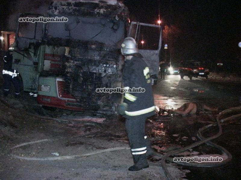 В Киеве заживо сгорел водитель грузовика (ФОТО), фото-2