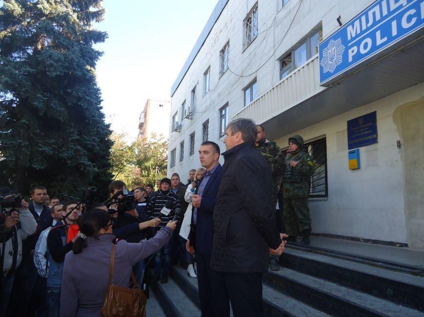 Возмущенные шахтеры ГП «УК»Краснолиманская