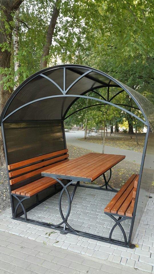 В парке Гончара установили беседки с камерами видеонаблюдения (ФОТО) (фото) - фото 2