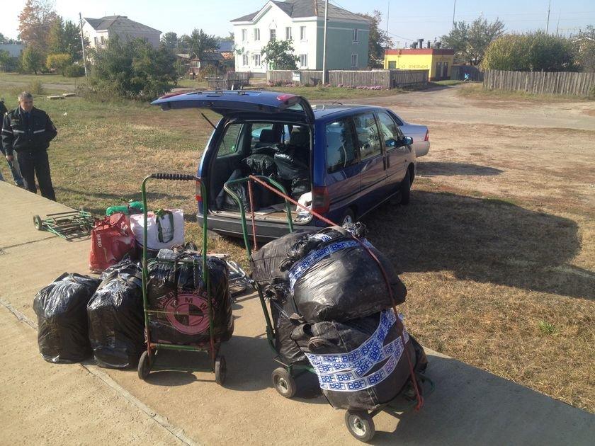 Транспортные милиционеры задержали четырех украинок, которые окольными путями везли почти полтонны контрабандного сала (фото) - фото 2