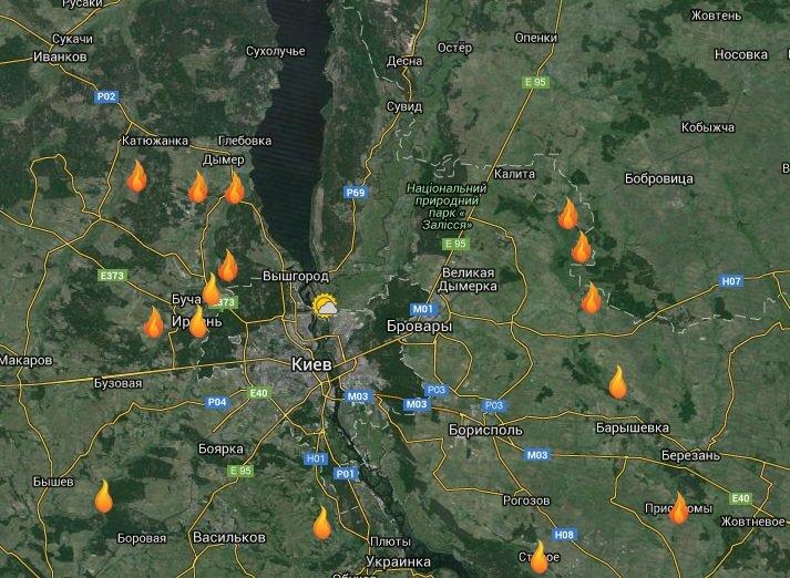 В Киевской области продолжают тлеть 20 га торфяников (фото) - фото 1