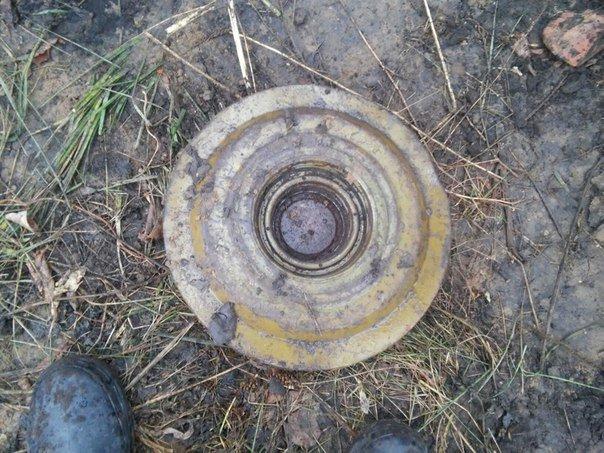 В Заволжье обнаружили противотанковую мину (фото) - фото 1
