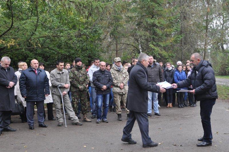 На Богородчанщині, вшановуючи захисників України, заклали алею, фото-3