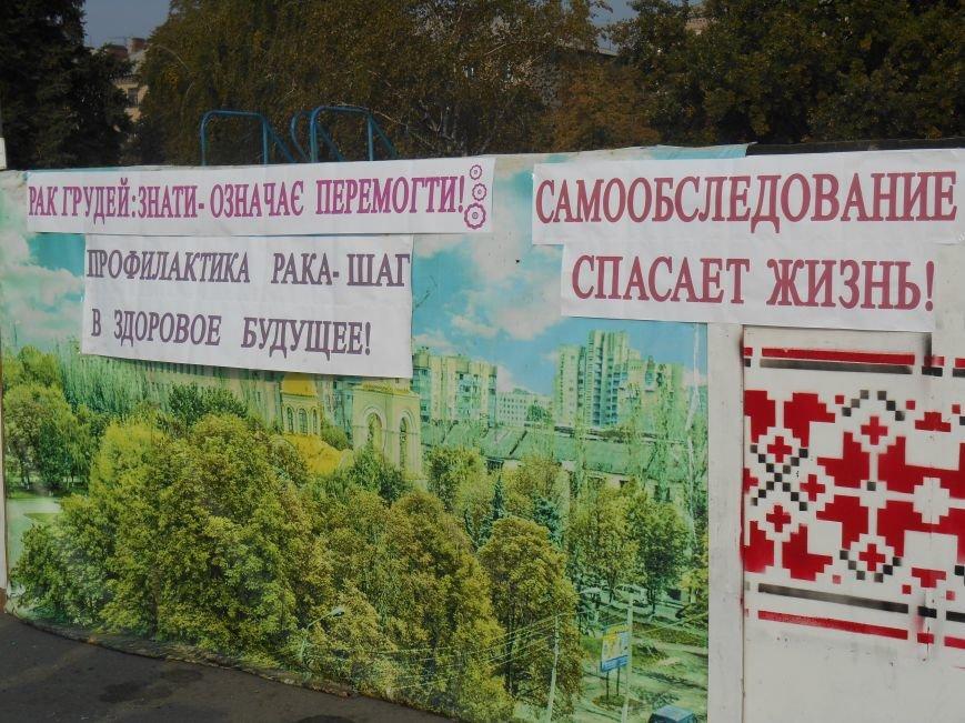 В Славянске прошла акция, посвященная Всеукраинскому Дню борьбы с раком молочной железы (фото) - фото 2