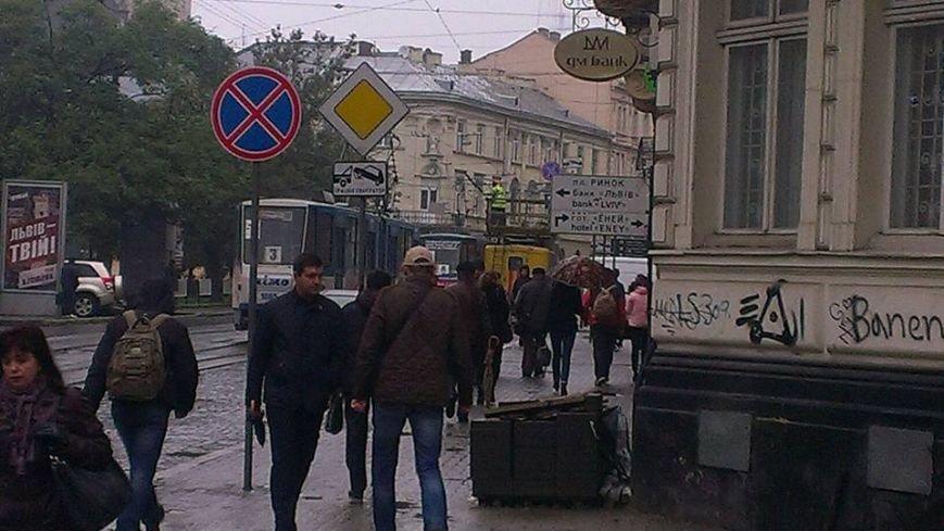У Львові тимчасово зупинились трамваї (ФОТО), фото-1