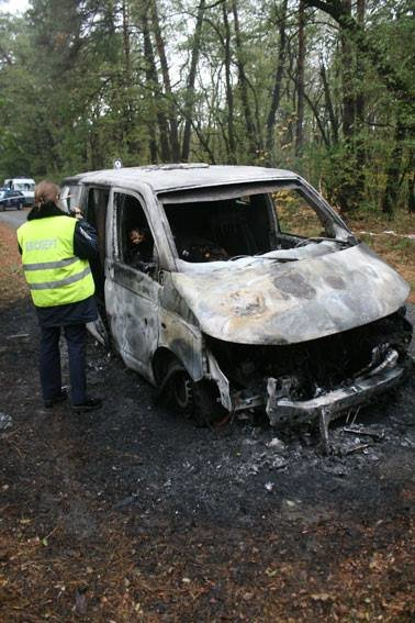 Возле Чернигова грабители атаковали автомобиль «ПриватБанка»: машина сгорела, инкассаторы погибли, фото-5