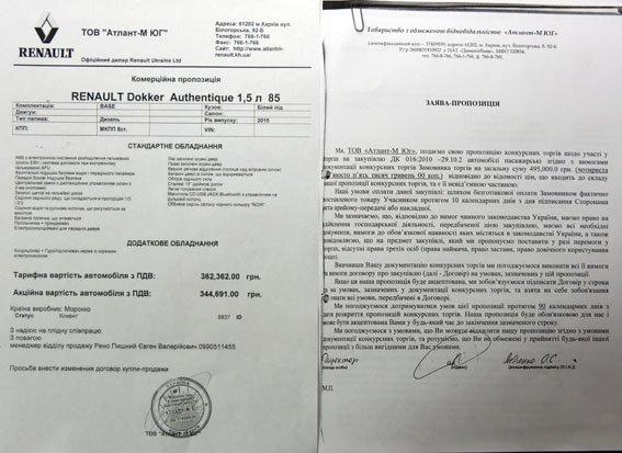 Милиция Донецкой области получила скидку на «Рено» (ДОКУМЕНТ) (фото) - фото 1