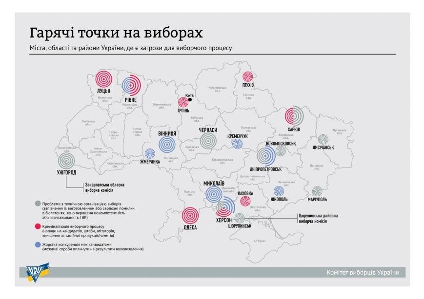 Кременчук у двадцятці «гарячих точок» країни через порушення на виборах (фото) - фото 1
