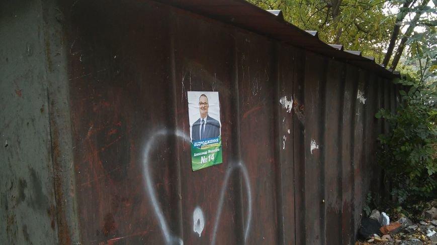 В день выборов на улицах Николаева продолжает висеть политическая агитация (ФОТО) (фото) - фото 3