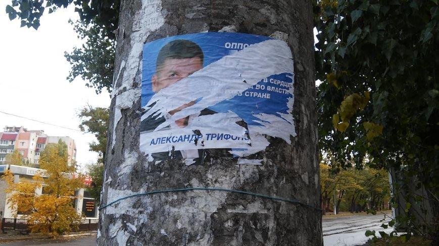 В день выборов на улицах Николаева продолжает висеть политическая агитация (ФОТО) (фото) - фото 7