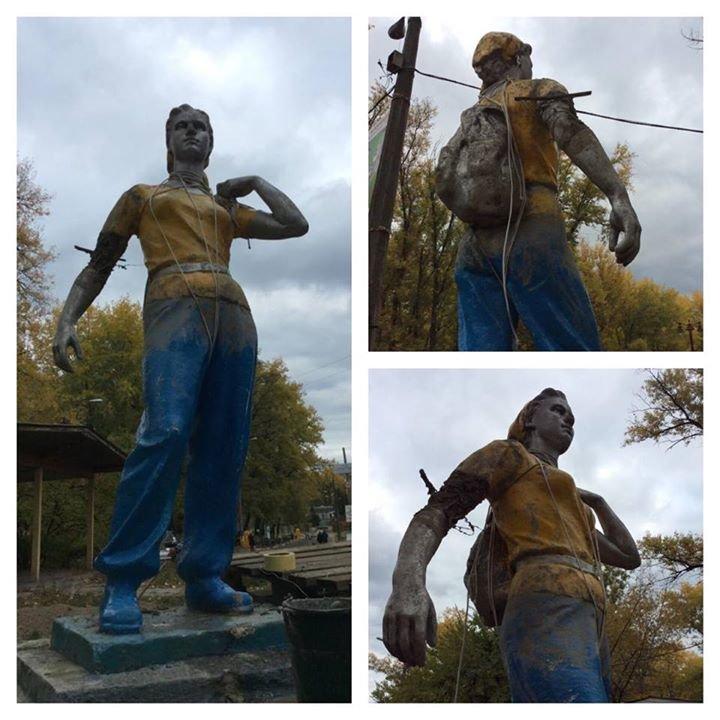 На Трухановом острове восстановили памятник комсомолке (ФОТОФАКТ), фото-1