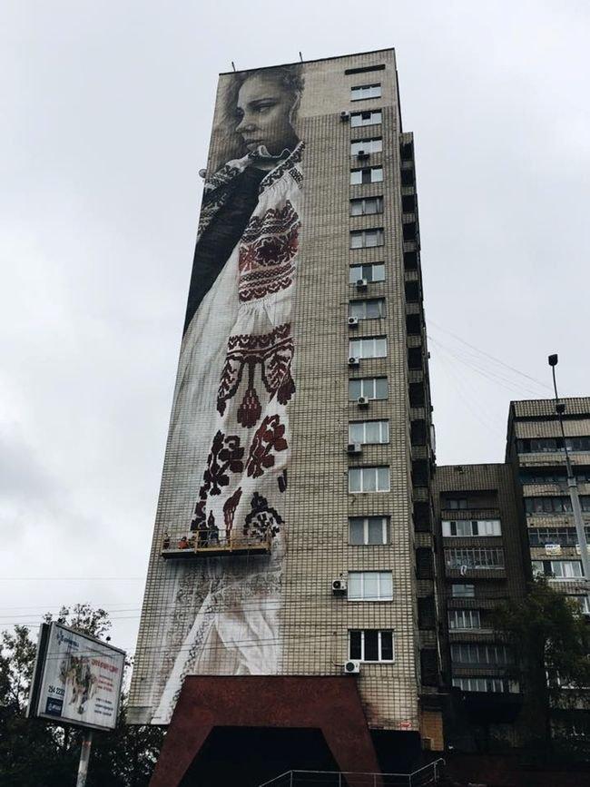 Мурал, посвящённый украинкам, может попасть к Книгу рекордов Гиннесса (ФОТО) (фото) - фото 2