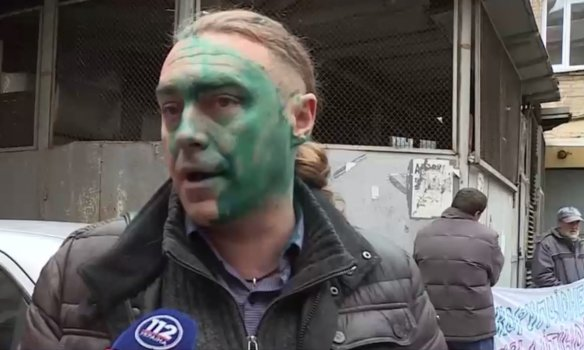 В Киеве экс-свободовца Мирошниченко облили зелёнкой (ФОТО) (фото) - фото 5