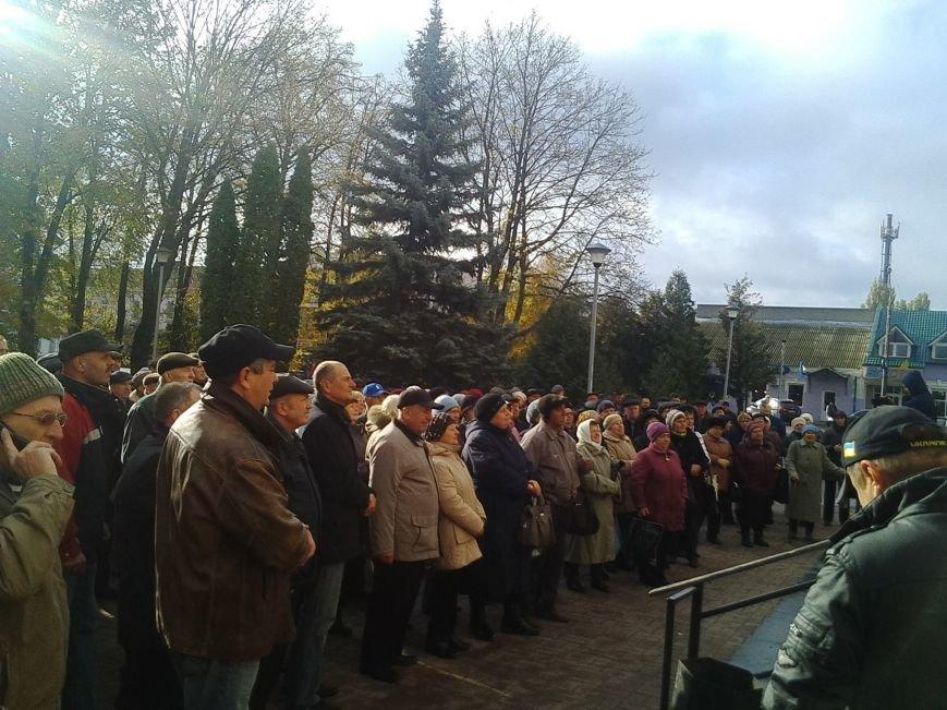 Сьогодні під конотопською міськрадою новообраний мер провів мітинг, фото-2