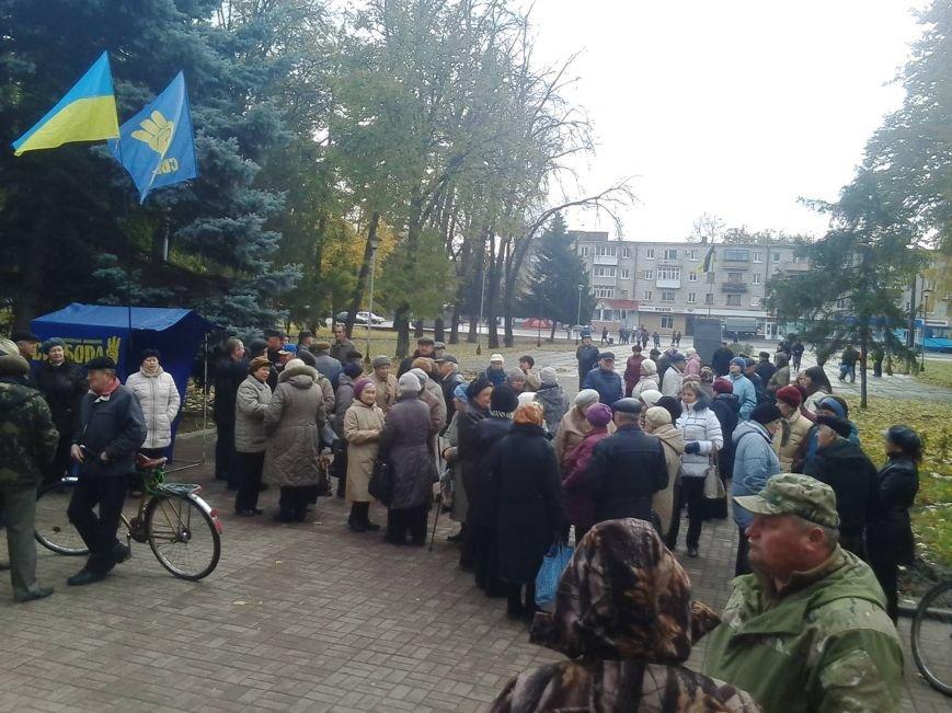 Сьогодні під конотопською міськрадою новообраний мер провів мітинг, фото-1