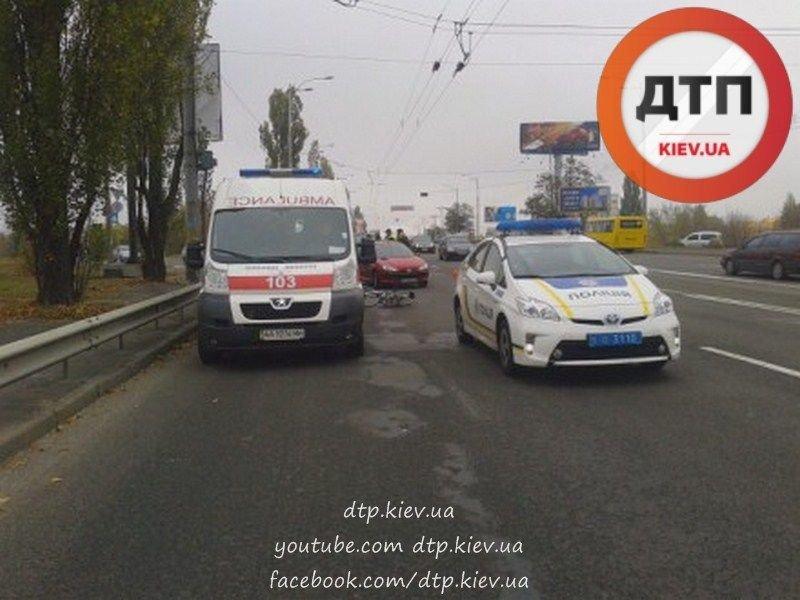 """На Воссоединения водитель """"Пежо"""" сбил велосипедиста (ФОТО), фото-4"""