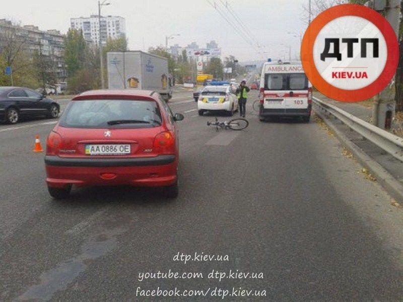 """На Воссоединения водитель """"Пежо"""" сбил велосипедиста (ФОТО), фото-2"""