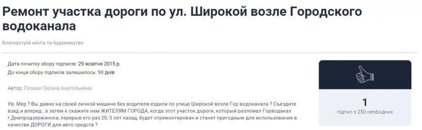Днепродзержинцы начали составлять электронные петиции городской власти (фото) - фото 6