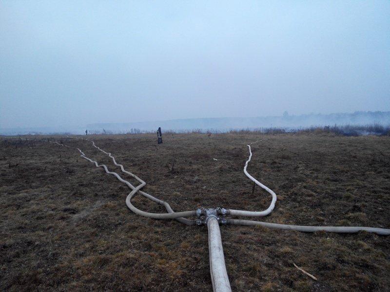На Сумщине гасили торфяной пожар на площади 6 га (ФОТО) (фото) - фото 1