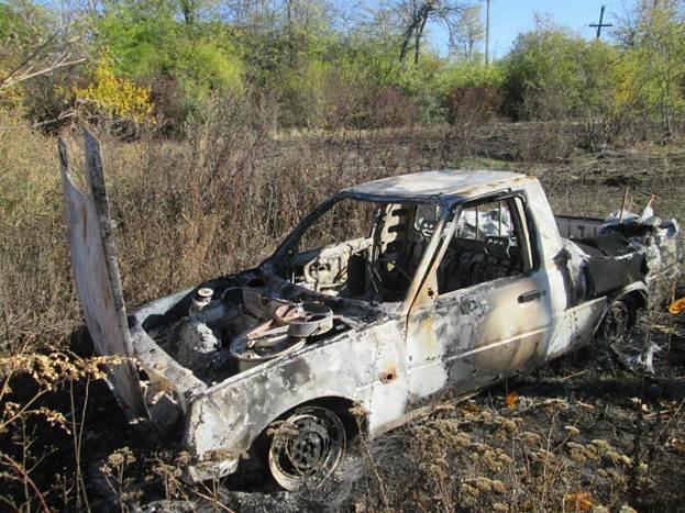 Возле Кировоградской области обнаружили сожженный автомобиль. ФОТО (фото) - фото 1