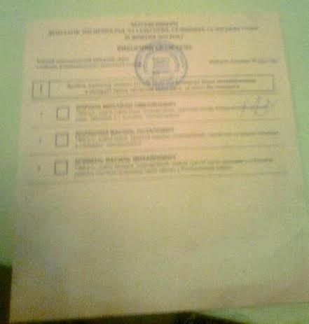 Вибори на Прикарпатті: Нецензурна лексика у бюлетені принесла перемогу одному із кандидатів (фото) - фото 1