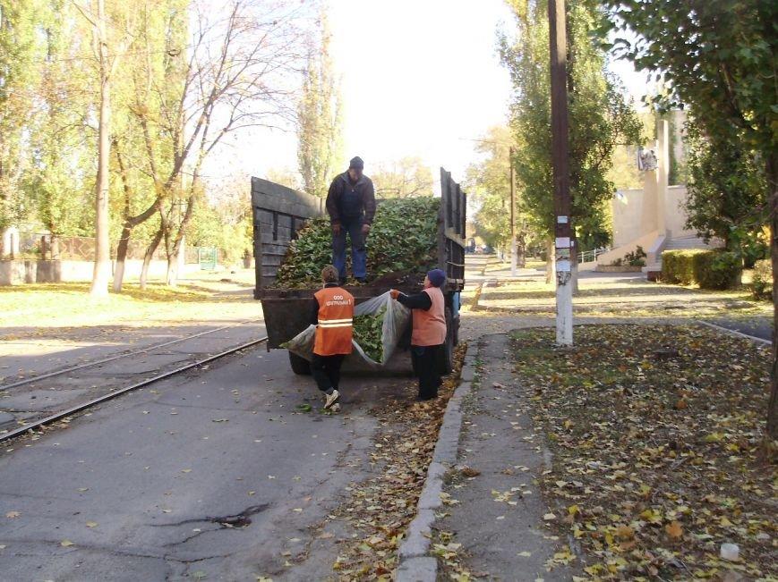 Николаевские коммунальщики воюют с опавшей листвой (ФОТО) (фото) - фото 7
