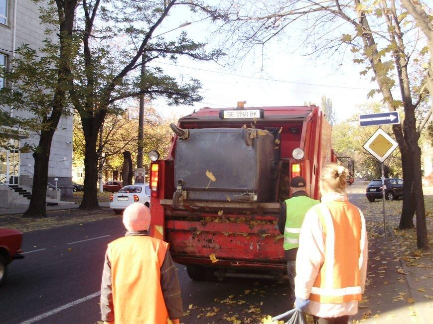 Николаевские коммунальщики воюют с опавшей листвой (ФОТО) (фото) - фото 5