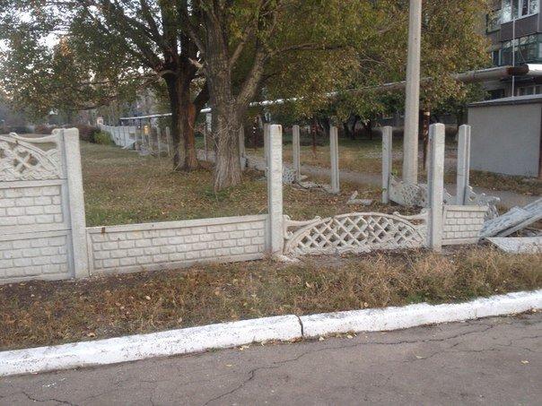 Димитровский УВК благодаря хулиганам осталась без забора (фото) - фото 6