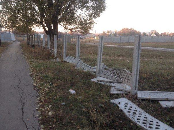Димитровский УВК благодаря хулиганам осталась без забора (фото) - фото 3