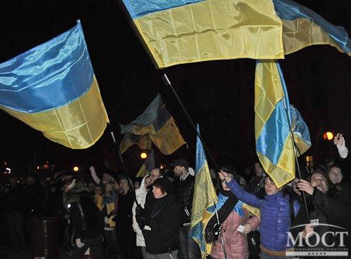 Біля будівлі ДнепрОГА проходить мітинг проти дій щодо представників партії« УКРОП »(ФОТО) (фото) - фото 1