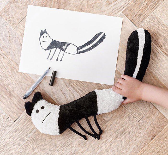 Хорошие новости: IKEA создала мягкие игрушки по «детским эскизам» (ФОТО) (фото) - фото 1