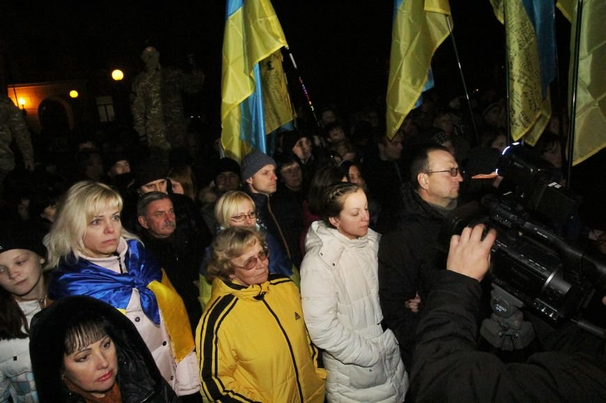 Под днепропетровской ОГА прошёл митинг против действий власти (ФОТО), фото-6