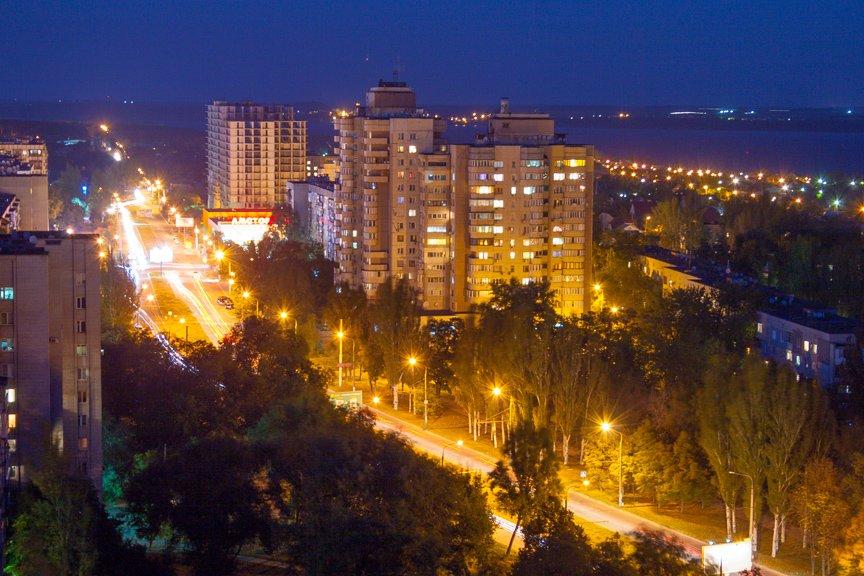 ФОТОПРОЕКТ: огни ночного Запорожья с крыш домов (фото) - фото 9