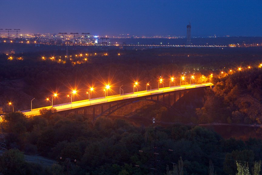 ФОТОПРОЕКТ: огни ночного Запорожья с крыш домов (фото) - фото 6