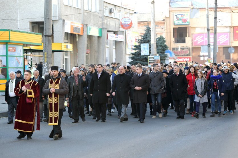 Проголошення ЗУНР у Тернополі відзначили пішою ходою (фото) (фото) - фото 1