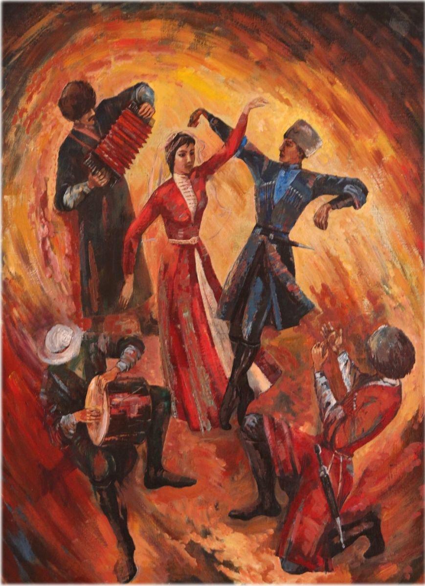 Картоев Б.М. Танец. х.м. 80х60