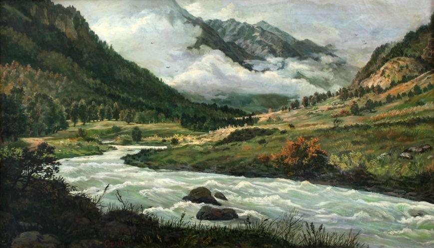Оздоев Д. О. Ущелье реки Асса х.м. 50х88,5 (2)